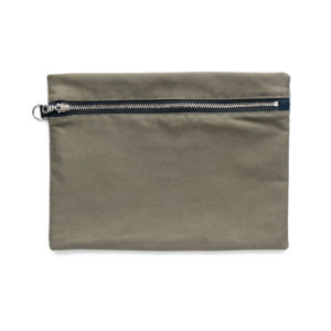 WATERPROOF COTTON ZIP POUCH THUMBNAIL